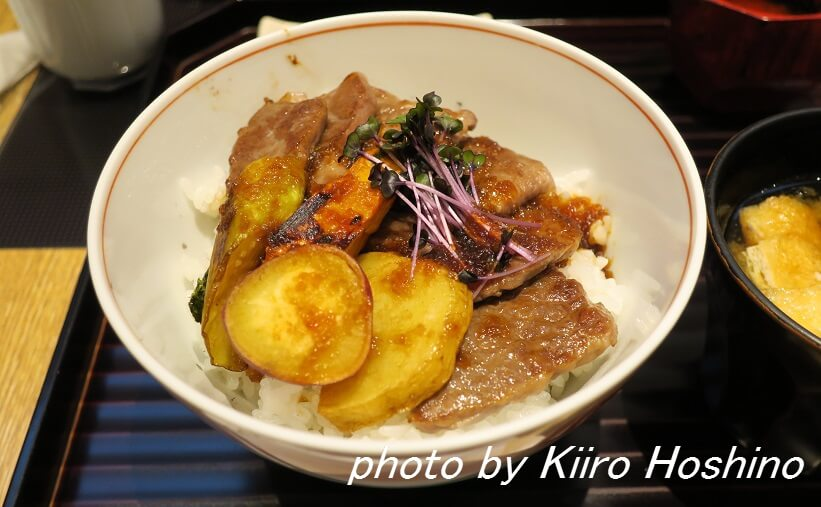 京都駅はしたて、和牛焼肉丼