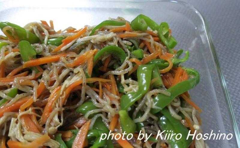 作り置き7.15、しらたき野菜炒め