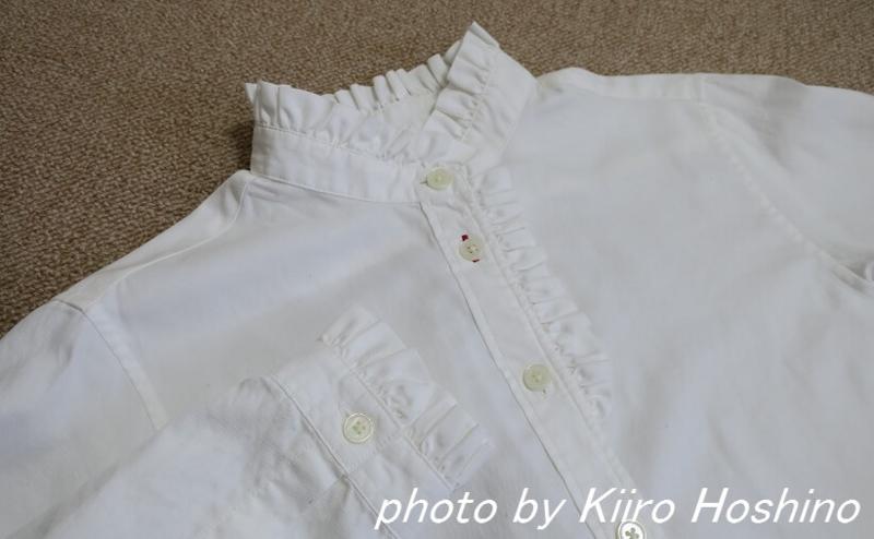 ユニクロ・イネスブラウス、襟と袖