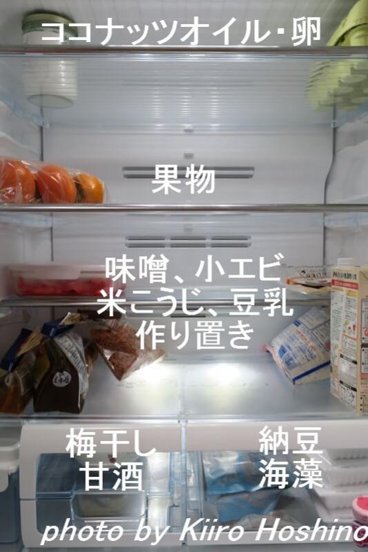 冷蔵庫中身、中央