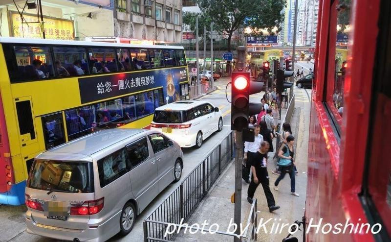 香港乗り物、トラム2階席から