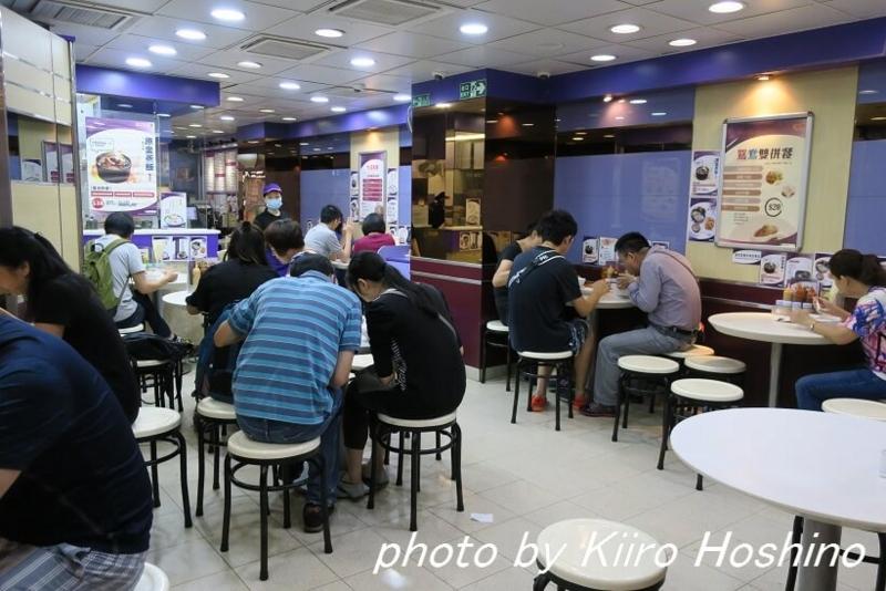 香港・海皇粥店、店内奥