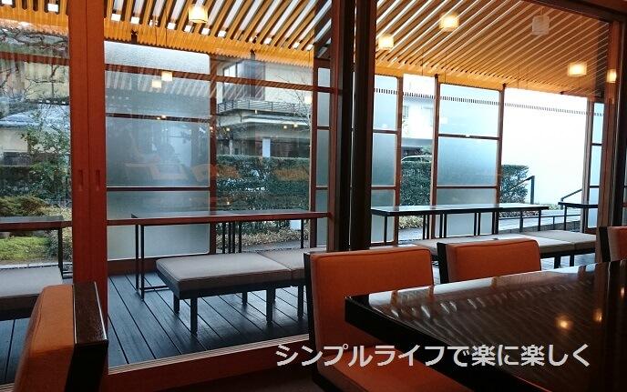 虎屋茶寮・京都一条店、入口テラス席