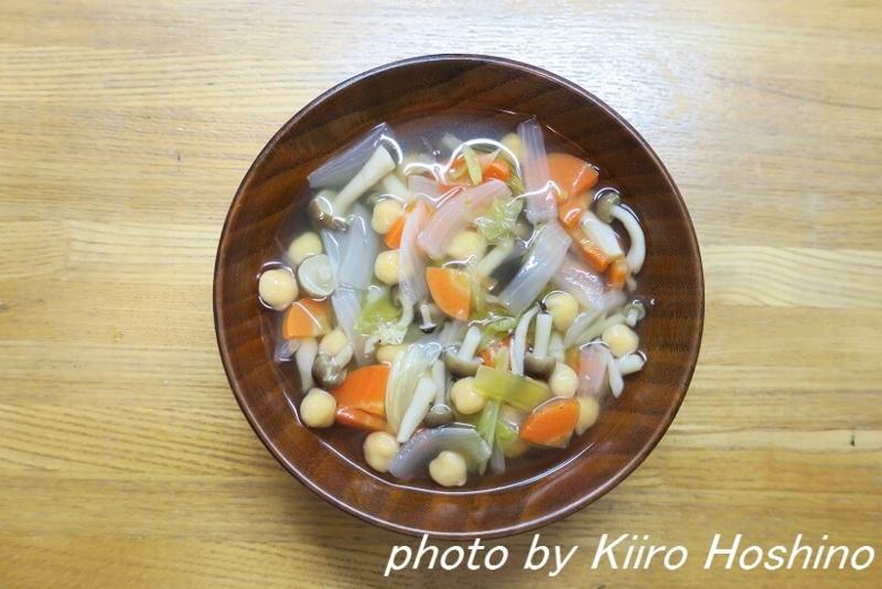 作り置き12.2、具だくさんひよこ豆スープ