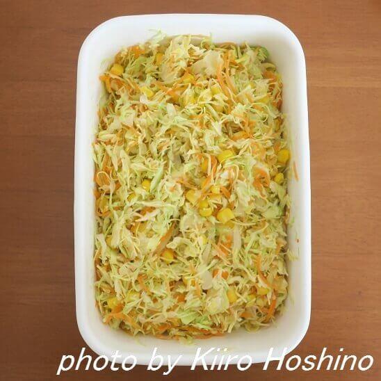キャベツの酢漬けサラダ