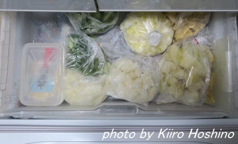 冷凍庫下、上段