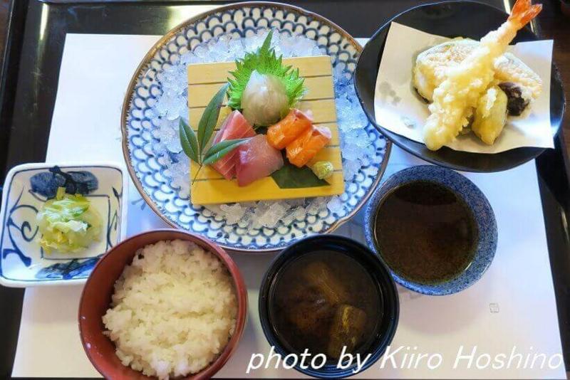 がんこ岸和田五風荘、お造り天ぷら定食