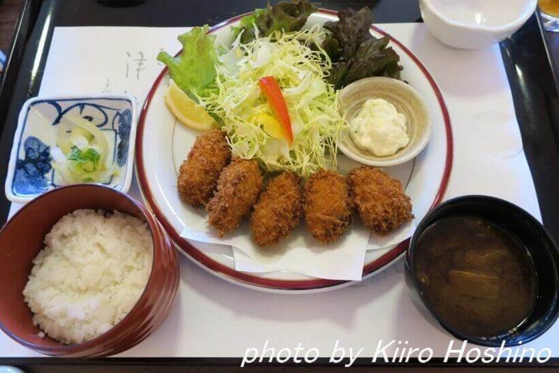 がんこ岸和田五風荘、カキフライ定食