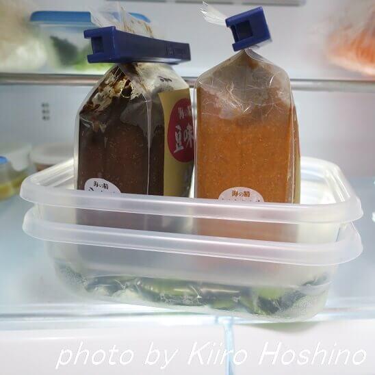 きゅうりの浅漬け・冷蔵庫