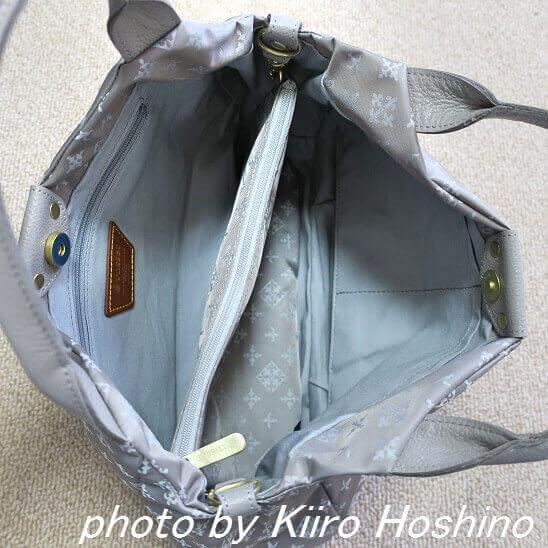russetバッグ、内側