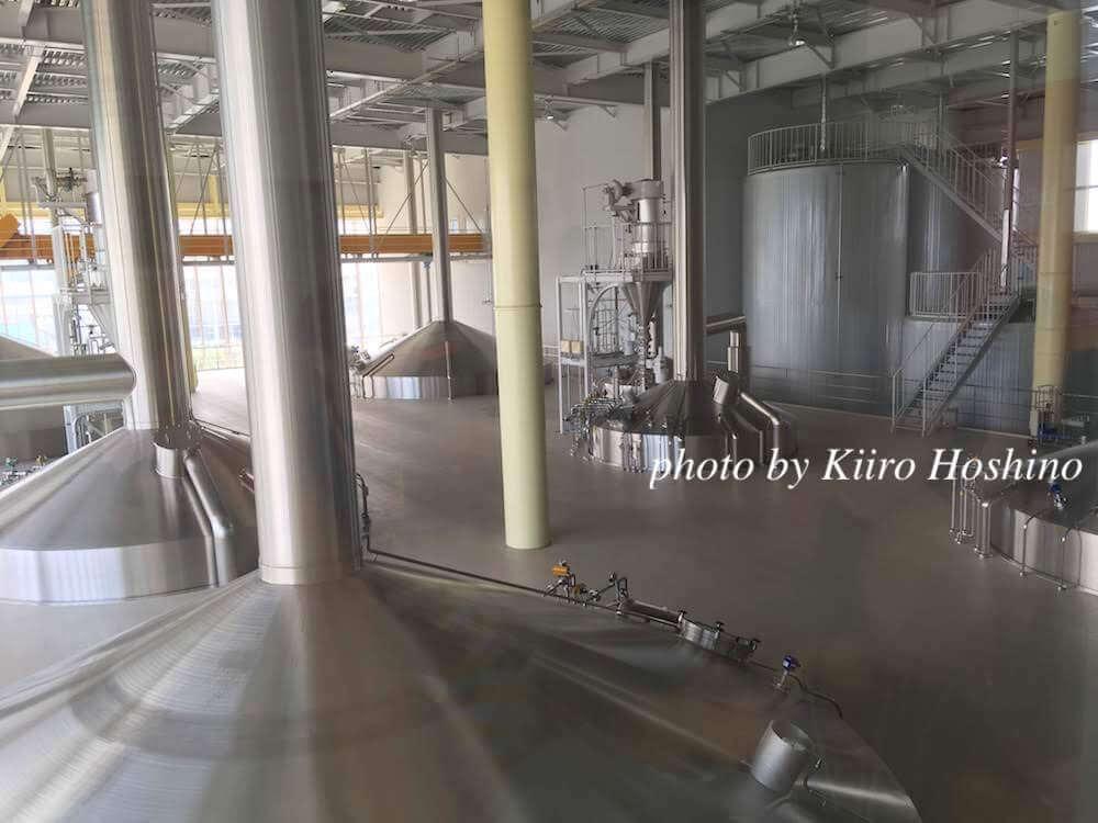 キリン滋賀工場、発酵釜