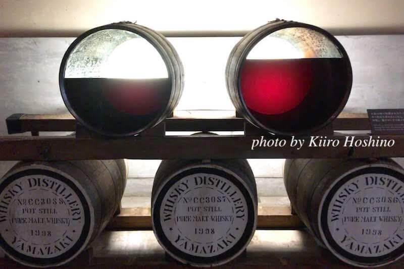 山崎蒸溜所、熟成樽の中