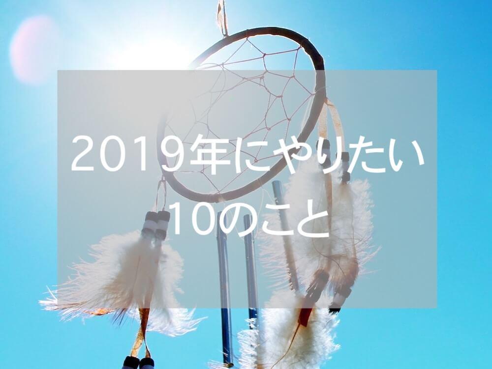 2019年の目標10こ