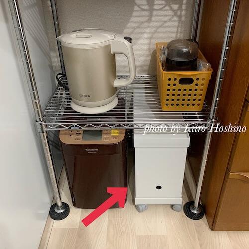 無印ファイルボックス+キャスター+フタ、キッチン