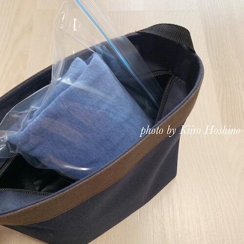 コーデ201904(GW)1日目、100均袋でバッグに