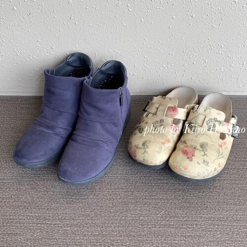 帰省コーデ201908、靴2足