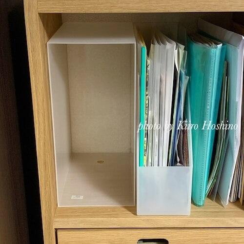 無印スタッキングシェルフ、ファイルボックス