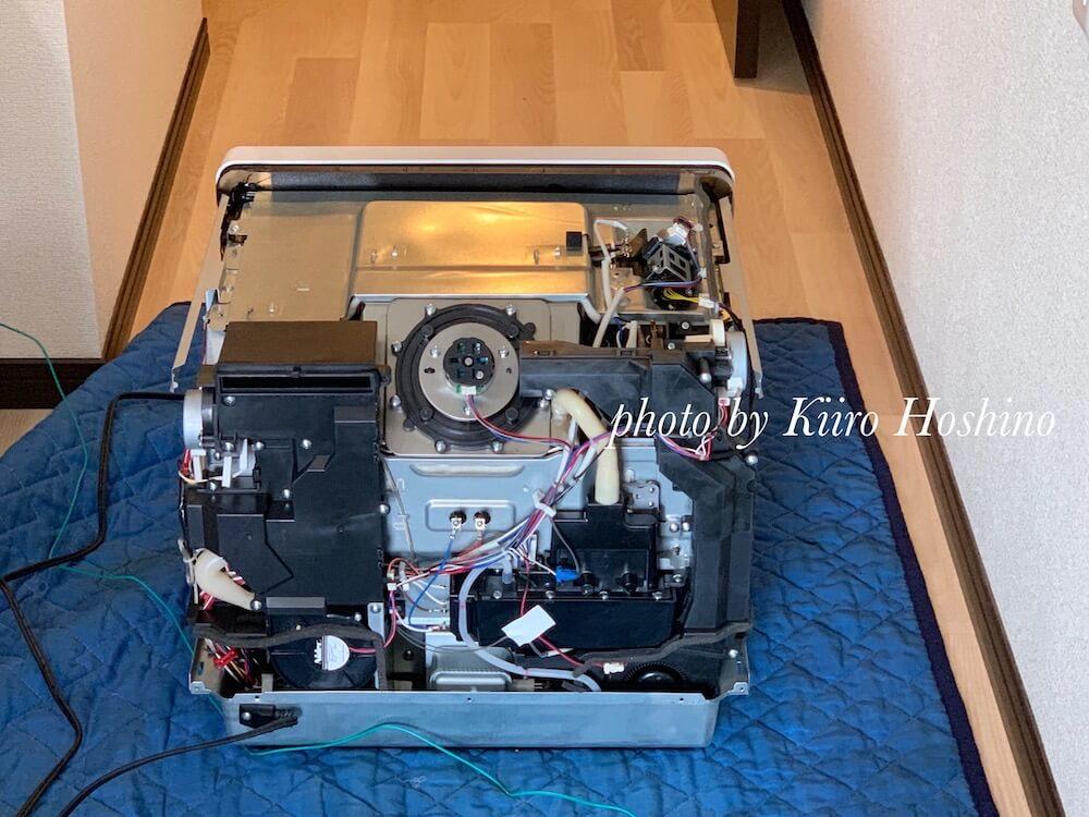 ヘルシオオーブン修理、裏側