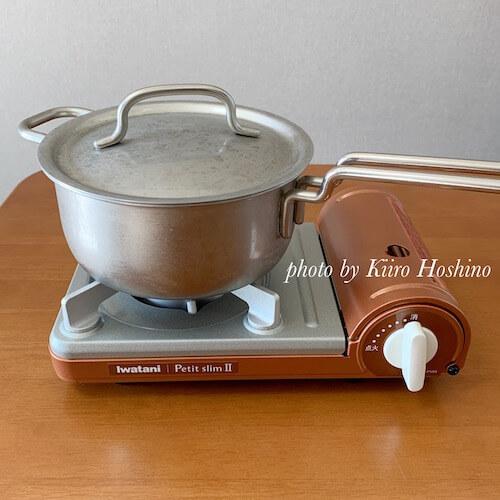イワタニカセットコンロ、鍋
