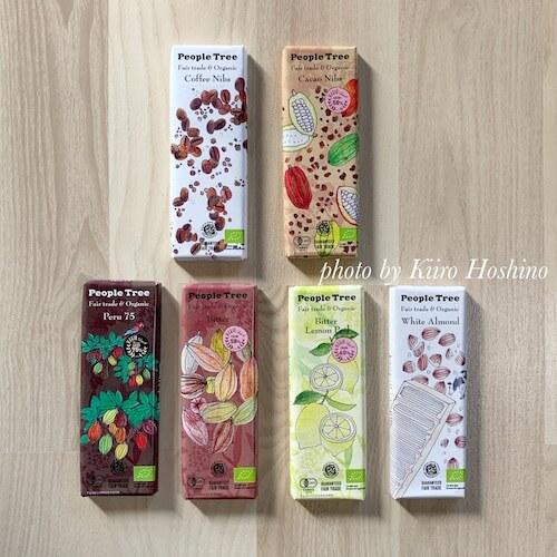 ピープルツリーチョコレート2019、6枚