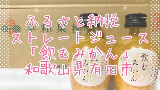 ふるさと納税和歌山県有田市・飲むみかんeyecatch