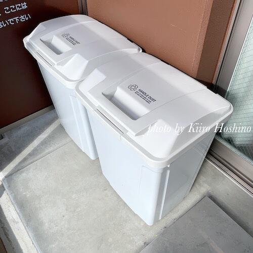 屋外用ゴミ箱、ベランダ2個置き