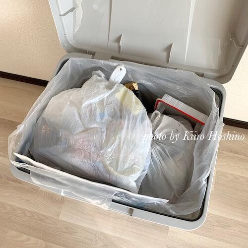 屋外用ゴミ箱、ゴミ