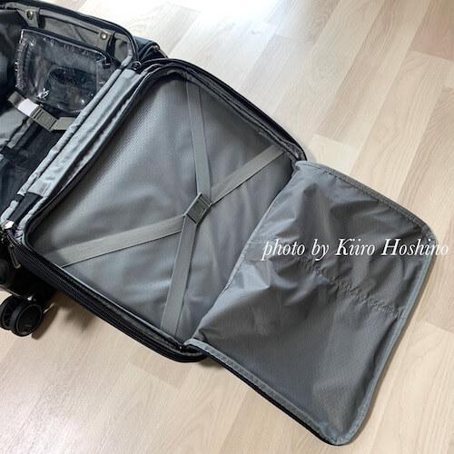 delseyスーツケース、フタ収納