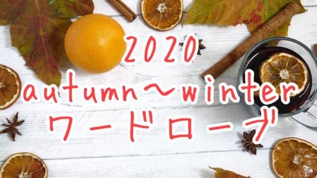 2020年秋〜初冬ワーロドーブ