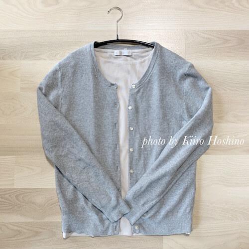 ドゥクラッセTシャツ買い替え、無印カーデイガン