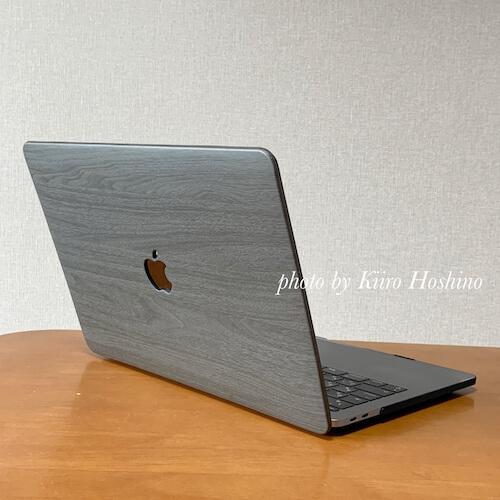 MacBookケース、外から