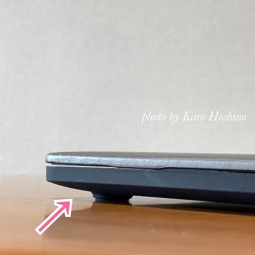 MacBookケース、ゴム足