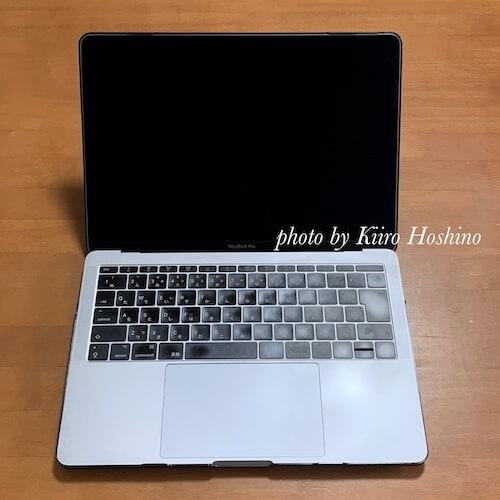 MacBookケース、画面側