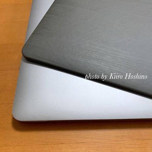 MacBookケース、上面比較